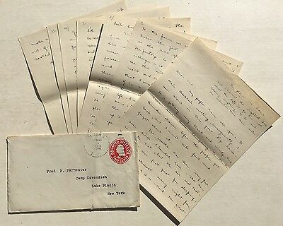 1913 Handwritten MANUSCRIPT Letter Travel EXCURSION St Lawrence River CANADA Log