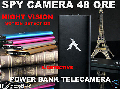 Spy Camera Spia INFRAROSSI  HD MOTION DETECTION TELECAMERA NASCOSTA POWER BANK