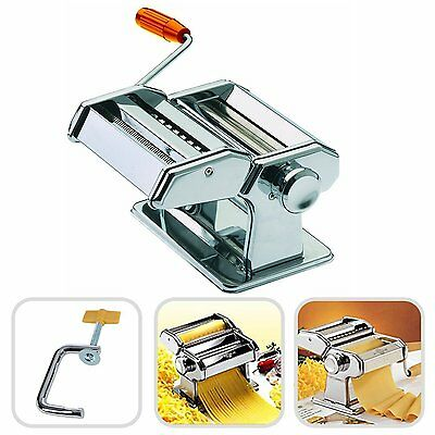 Stainless steel pasta machine for creating homemade pasta