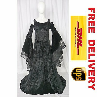 Medieval Renaissance Fantasy Wedding Handfasting Gown Dress Costume (20M-M)