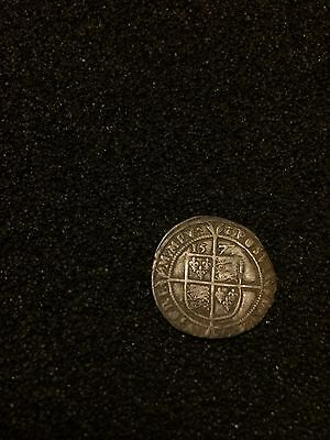 Queen Elizabeth I Sixpence Silver Hammered Coin Metal Detecting Find