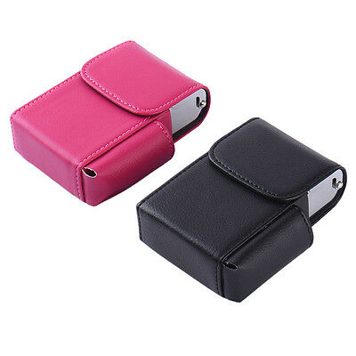Stainless Steel +PU Pocket Metal Cigarette Smoke Holder Storage Case Box