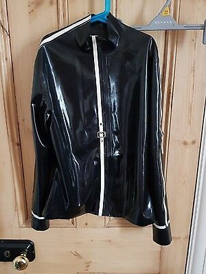 Black Latex 2 Piece Suit - Top & Bottoms (Womens or Mens)