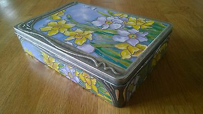 Churchill's Confectionery Tin with Embossed Daffodils Empty