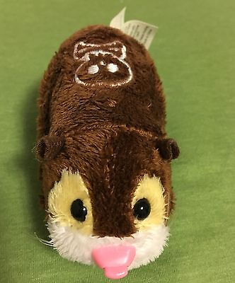 Brown and White Zhu Zhu Pet Capt. Zhu WITH BATTERIES TESTED