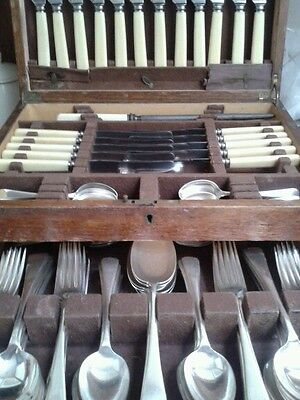 Vintage canteen of silver plated cutlery 12 piece settings