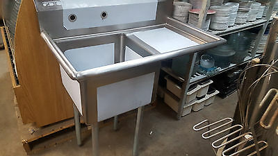 Restaurant PREP SINK 1 Compartment with Drainboard NSF