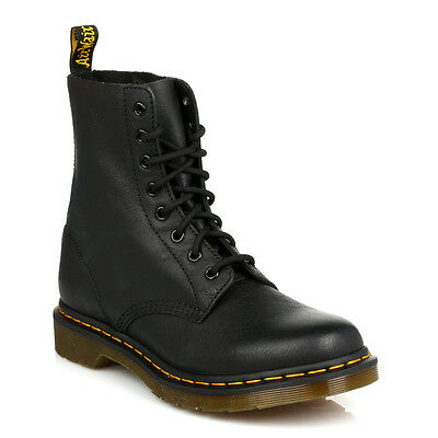 Dr. Martens Womens Docs Black Pascal Virginia Leather Ankle Boots Lace Up Shoes