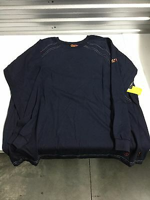 520c43c3e19 Gently Used Men s Ariat Flame Resistant Work Crew Long Sleeve Shirt - Navy