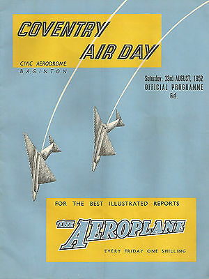 Coventry Air Day - Official Programme August 1952