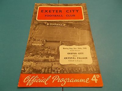 1960-61 Exeter city v Crystal Palace
