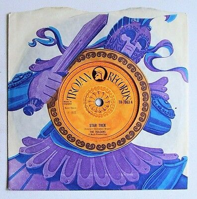 The Vulcans - Star Trek / Back-A-Yard - 1972 TROJAN (VG+)