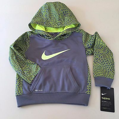 Nike Boys AWESOME Grey-Neon Green HOODIE Size 2 years. BRAND NEW!! UNIQUE!!
