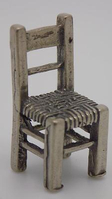 Vintage Solid Silver Chair Miniature - Dollhouse - Stamped - Made in Italy