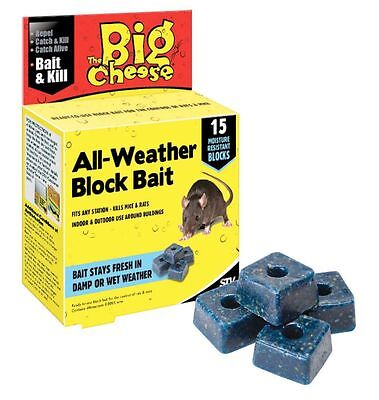 The Big Cheese All Weather Rodent Rat Mouse Pest Killer Poison Bait Blocks