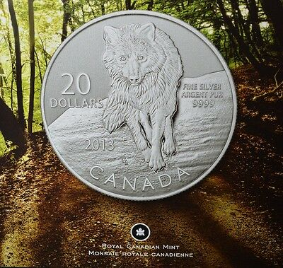 2013 Canada $20 Fine Silver 0.999 Wolf Coin ($20 FOR $20)