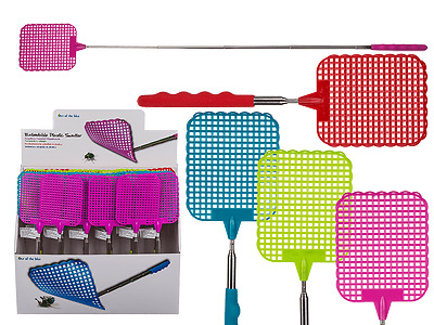 70cm Telescopic Fly Swatter Extendable Insect Pest Catcher Handy Grip Portable