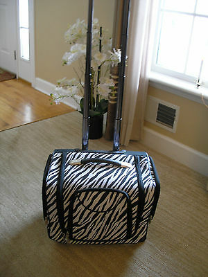 Zebra Black and White Rollaway Carry On with Lifting Handle NEW