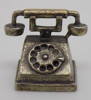 Vintage Solid Silver Telephone Miniature - Stamped - Made in Italy - Dollhouse