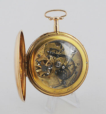 MUSEUM, Jaquet Droz Verge fusee Double Esqueleton repeater gold 18K circa 1785