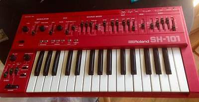 Vintage Synth ROLAND SH-101 Analog Synthesizer RED rare