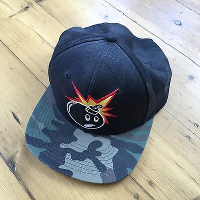 The Hundreds Cap. Camo. Snap Back. Black. Bomb Logo