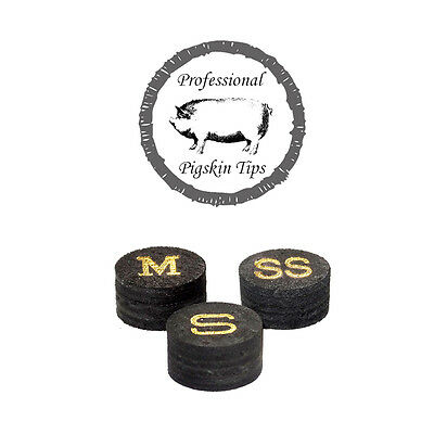 Professional  Pigskin Tips - 11mm Snooker Cue Tips.  SALE - WAS £4.50