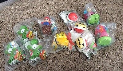 Mcdonalds 10x Super Mario Figures Toys In Packets Toys Happy Meal Bundle Job Lot