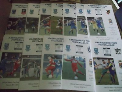2016/17  Barnoldswick Programme Collection X 12 North West Counties League