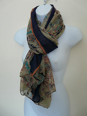 Wholesale Job Lot Hawkins Ladies Paisley Print Lightweight Chiffon Scarf X 10