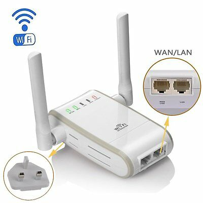 Wireless-N 300Mbps WiFi Range Booster Extender Router/Repeater/AP/Wps Mini Dual