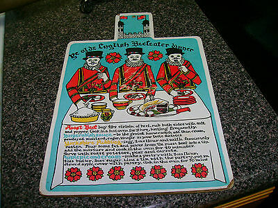Vintage English Beefeater Gin Wooden Cutting Board Wall Hanging