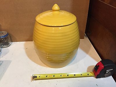 Vintage Bauer Ring Ware Ringware Yellow Cookie Jar