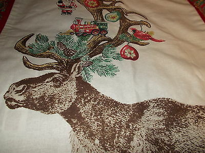 """Pottery Barn Ornament Stag Deer Pillow Cover, 20"""" ,holiday, Christmas"""