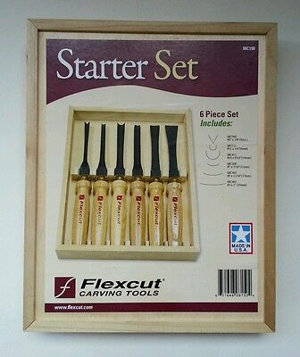 Flexcut carving tools 6 piece set.