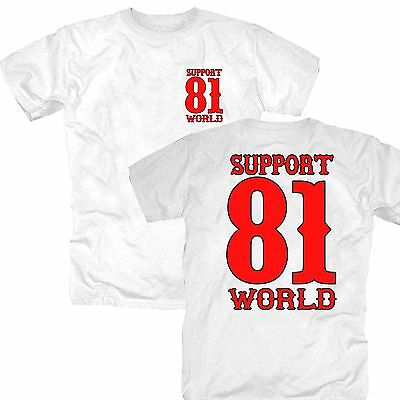 HELL'S ANGELS SUPPORT 81 1% World Eightyone Big Red Machine AC/AB MC