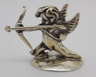 Vintage Solid Silver Cupid / Angel Miniature - Stamped - Made in Italy