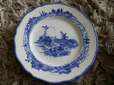 6 x Pretty Royal Doulton Norfolk Blue & White Side  Plates, D6294, 8 1/2""