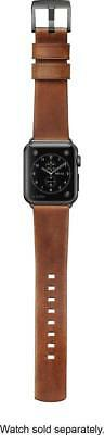 Nomad Leather Watch Strap for Apple Watch 38mm - Brown with Black Lugs 4828