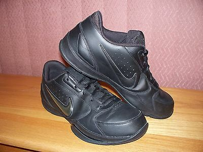 Nike Air Black/Black Men's Size 12 Leather Athletic Shoes