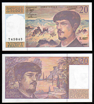 Billet France - 20F Debussy - 1990 - E 027 - NEUF - Fay : 66bis.1