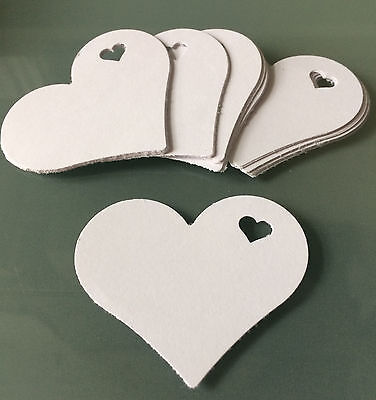 Heart in Heart Punches 80gsm White Paper *SECONDS* 100 Pieces!