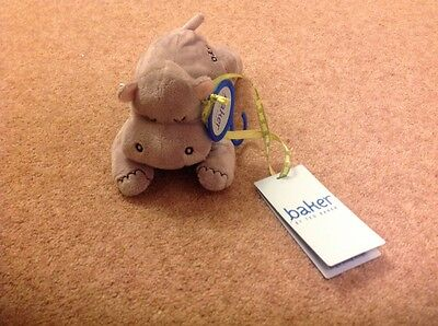 Ted Baker Babies Hippo Soft Toy Rattle Brand New With Tags