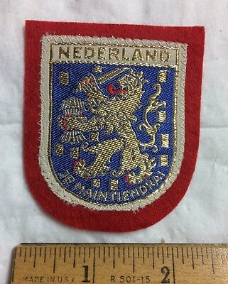 Nederland The Netherlands Holland Je Maintiendrai Dutch Coat of Arms Patch