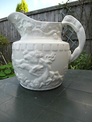VINTAGE Very Large ARTHUR WOOD  HUNTING  RELIEF JUG 9""