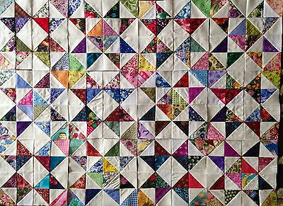 12 MIX Color Collection Eight Point Stars Quilt Blocks 100% Cotton made in USA