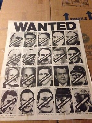 Richard Nixon Watergate Wanted Poster - Famous Print From The 70s
