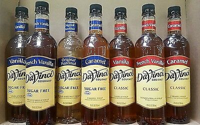 3 X DaVinci Gourmet FLAVORED Coffee MIX SYRUP ~ MANY FLAVOR CHOICES
