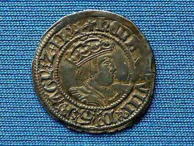 Henry VIII Halfgroat - 2nd coinage - York mint - mm voided cross