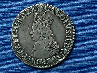 Charles II Shilling - 1st hammered issue - mm crown - Superb